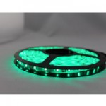 LED Strip SMD3528 - 60LEDs Green IP65 3.6W/m 4lm/led 120°
