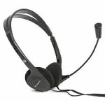 Fiesta FIS-1010 Black Headphones w/Mic