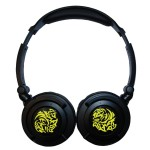 Maxell Tribal Bass Headphones/Yellow/gold plated plug