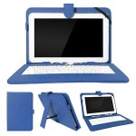 "Leather Keyboard for 7"" Tablet PC USB Blue"