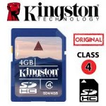 SD 4GB Class4 Kingston High Speed SDHC