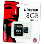 SD Micro 8GB Class4 Kingston +SD Adapter/SDHC/SDC4/8GB