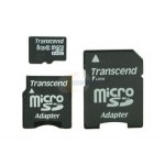 SD Micro 8GB Class6 Transcend +SD Adapter/SD mini Adapter